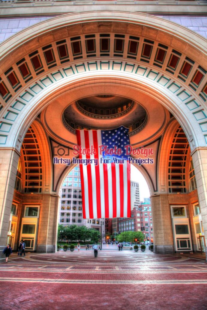 Large American Flag in HDR