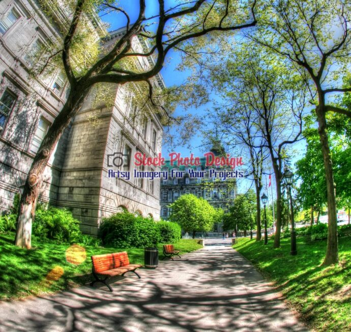 Old Montreal Fisheye View in HDR