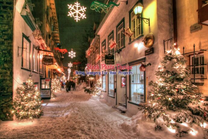 Old Quebec City District Alley in HDR 03