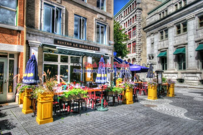 Old Quebec City District Bistro in HDR 01