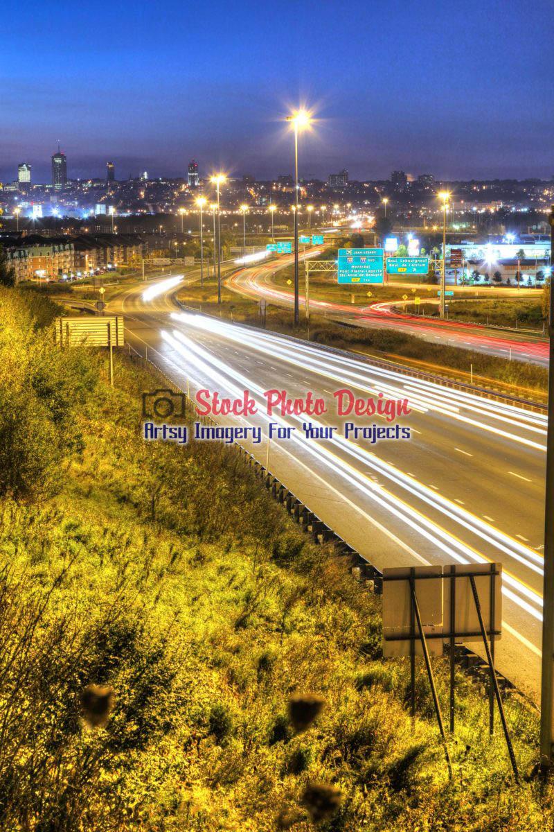 Quebec Highway Traffic in HDR
