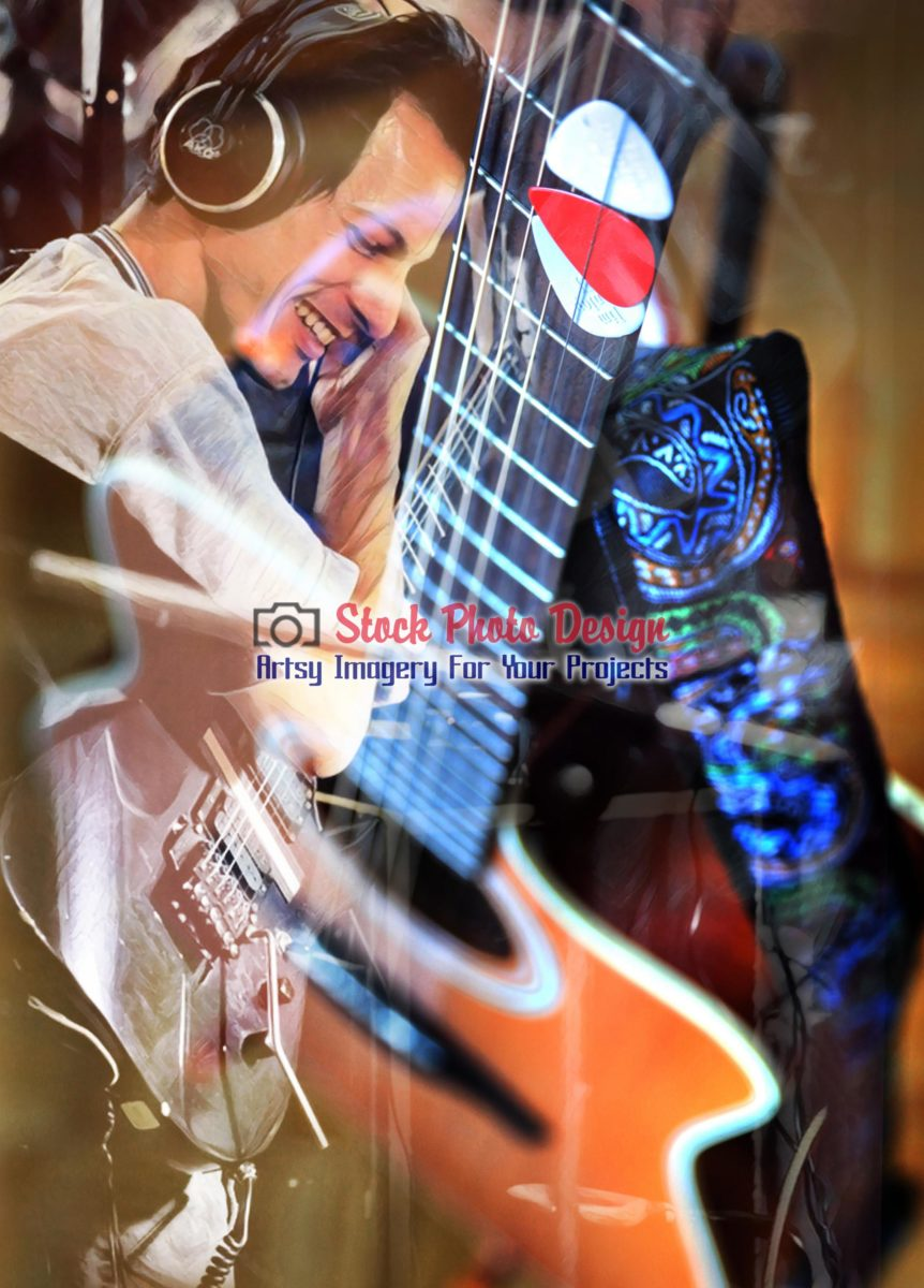 Guitar Player Photo Montage 1