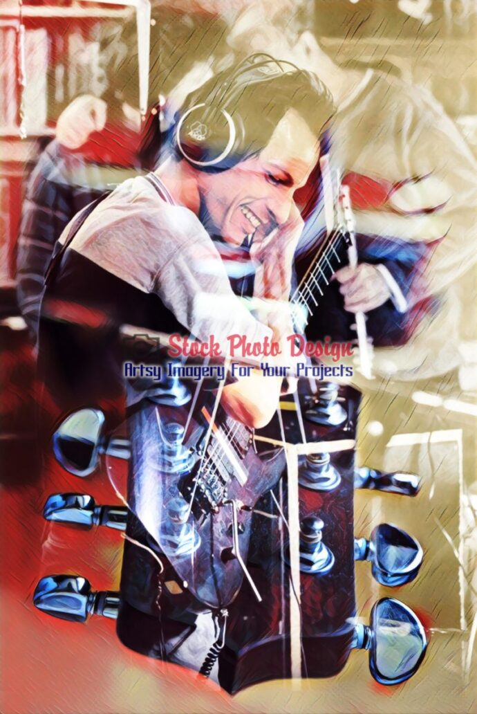 Guitar Player Photo Montage 2