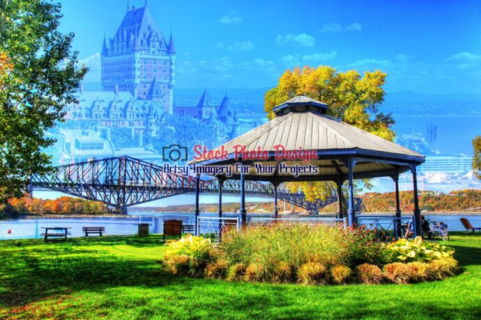 Quebec City Park Photo Montage 1
