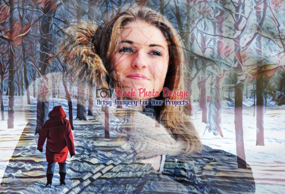 Winter Woman Photo Montage