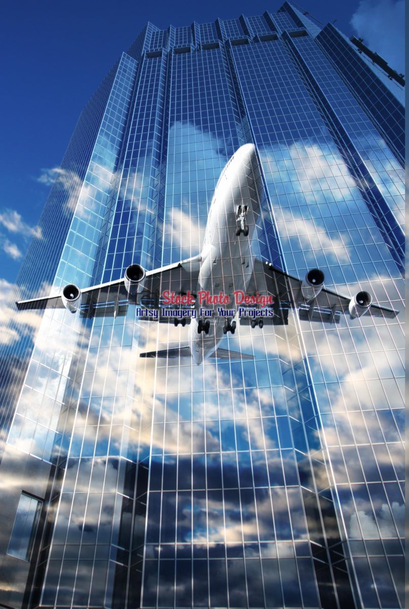 Aerial Business Concept Photo Montage 01 - Dimensions: 2871 by 4277 pixels
