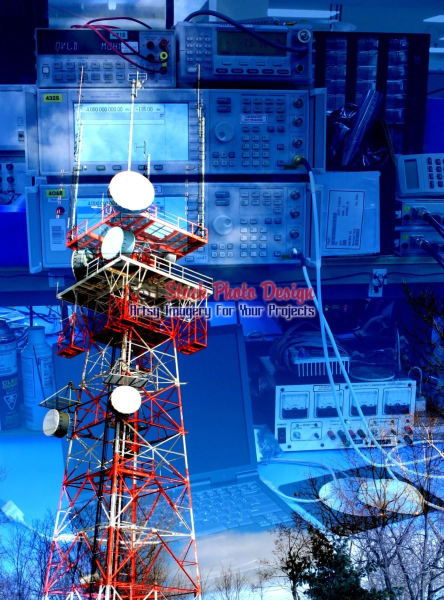 Communication Equipments Photo Montage 07