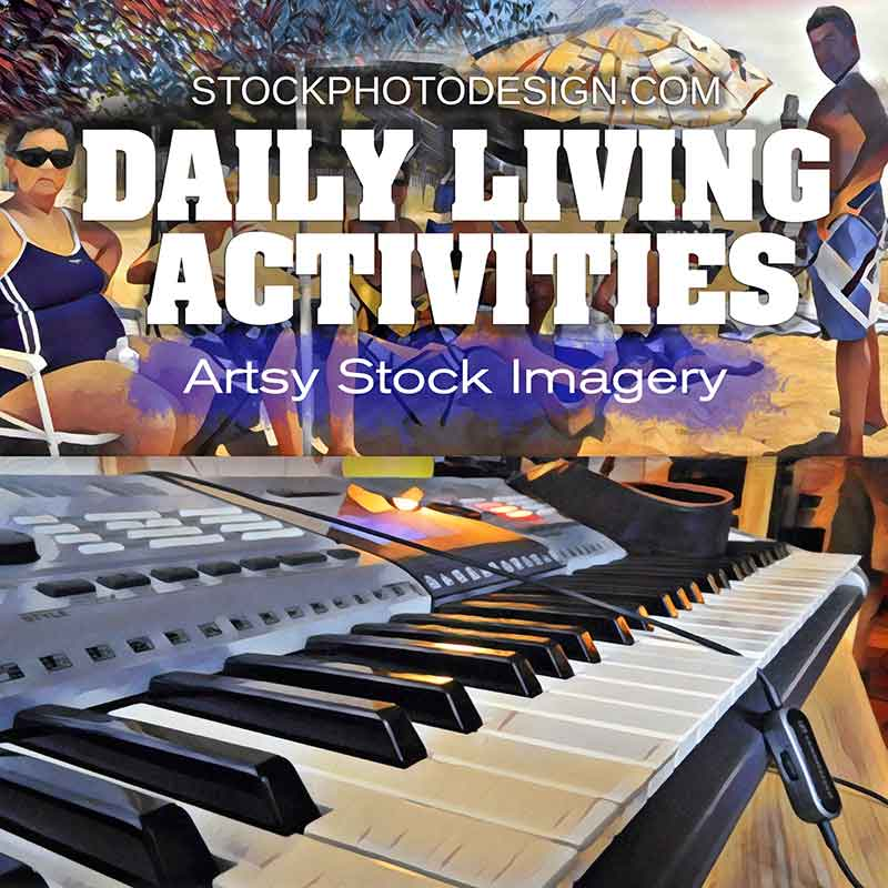 Daily Living Activities Artsy Royalty-Free Pictures