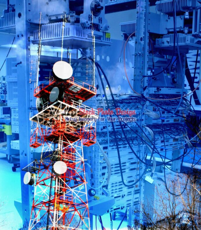 Modern Communication Equipments Photo Montage 03 - Dimensions: 2745 by 3139 pixels