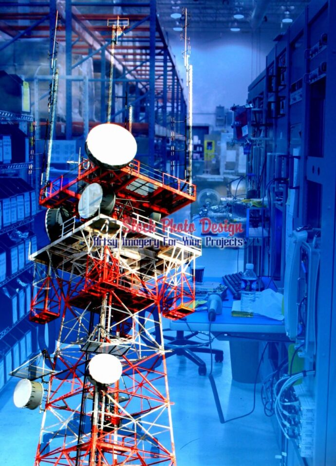 Modern Communication Equipments Photo Montage 06 - Dimensions: 2163 by 3000 pixels