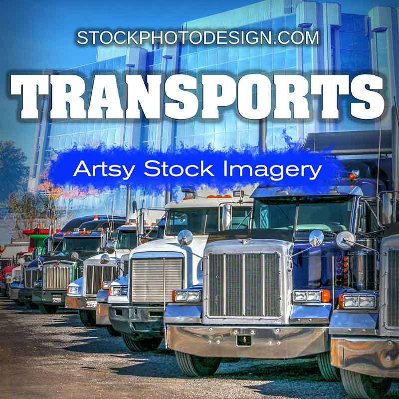 Modern Transportations Means Artsy Royalty-Free Pictures