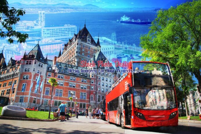 Quebec City Bus Photo Montage 01