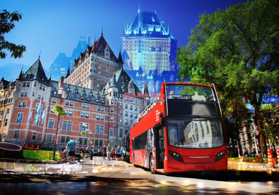 Quebec City Bus Photo Montage 04