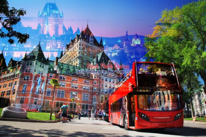 Quebec City Bus Photo Montage 05