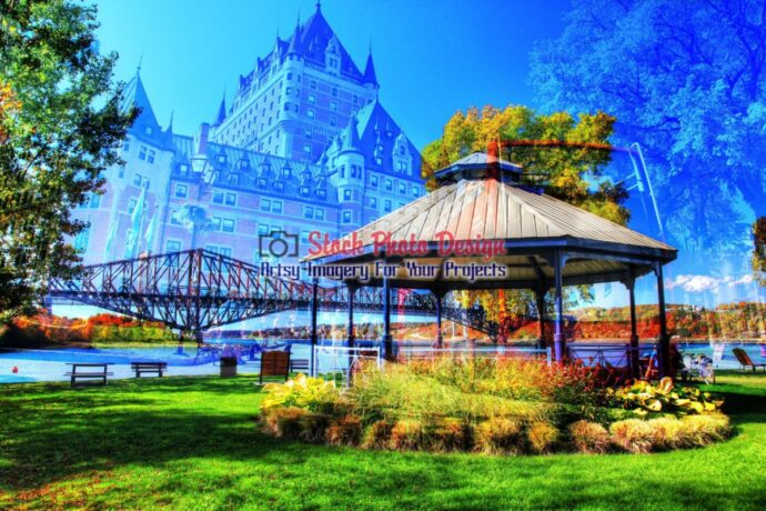 Quebec City Park Photo Montage 2