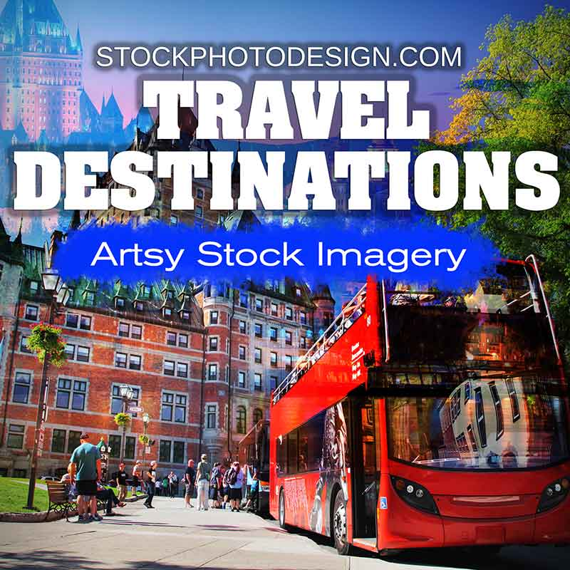 Travel Destinations Artsy Royalty-Free Pictures