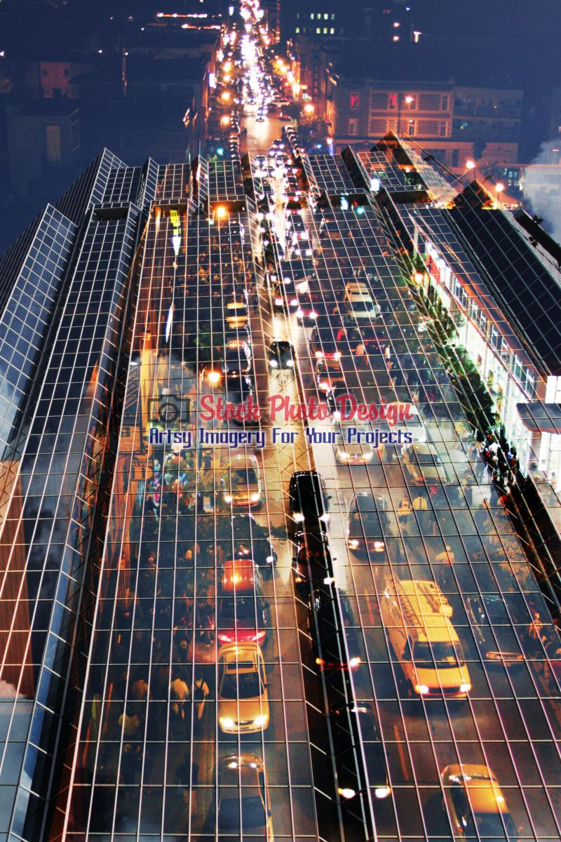 Urban Traffic Concept Photo Montage 01 - Dimensions: 2048 by 3072 pixels