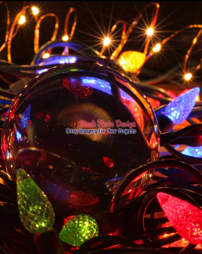 Christmas Lights and Lensball 2