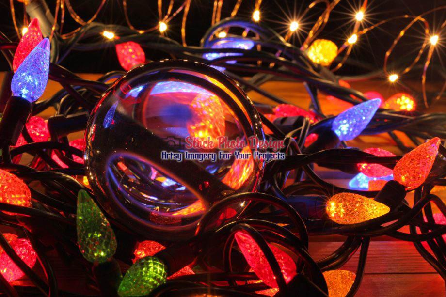 Christmas Lights and Lensball 5