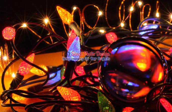 Christmas Lights and Lensball 6