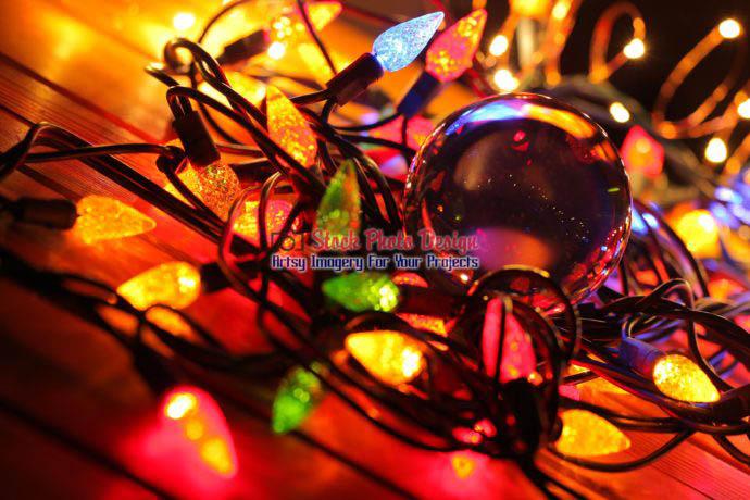 Christmas Lights and Lensball