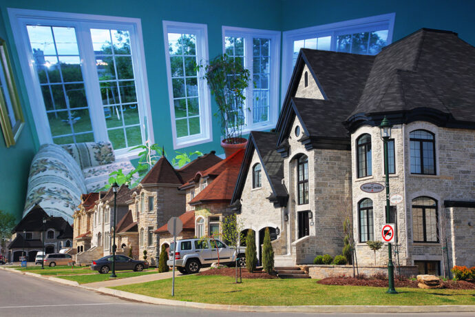 Cozy Neighborhood Photo Montage - Dimensions: 5616 by 3744 pixels