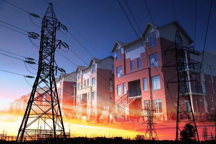 Domestic Energy Lines Photo Montage - Dimensions: 5616 by 3744 pixels