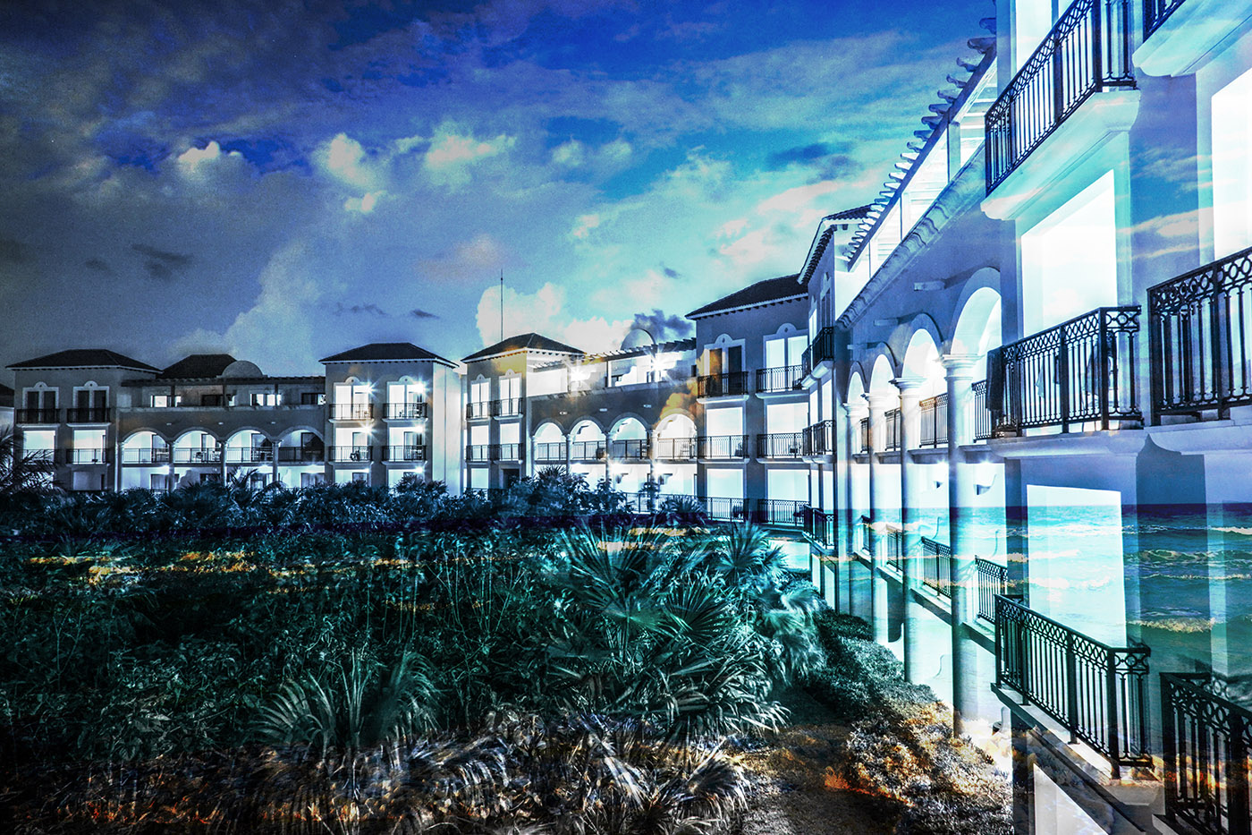 Hotel Resort Photo Montage 03 - Dimensions: 5616 by 3744 pixels