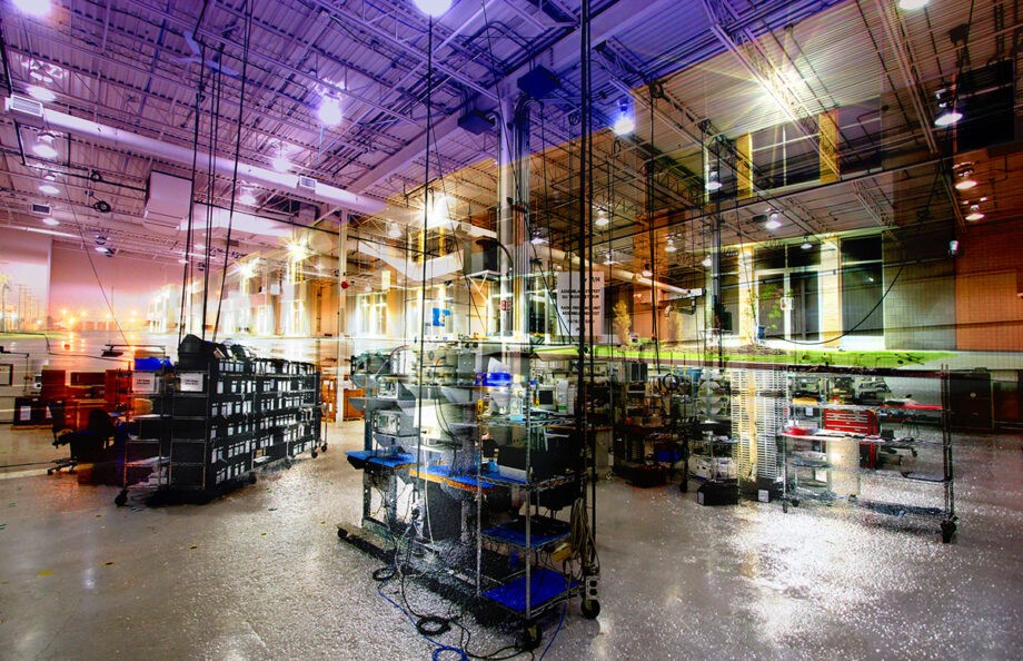 Industry Interior Photo Montage - Dimensions: 4225 by 2729 pixels