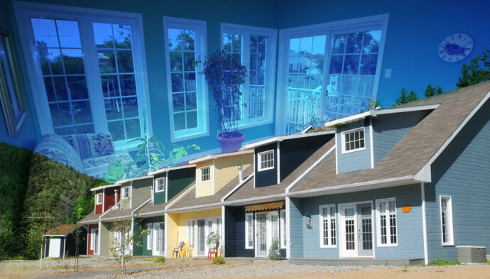 Resort Condos Photo Montage - Dimensions: 3501 by 1994 pixels