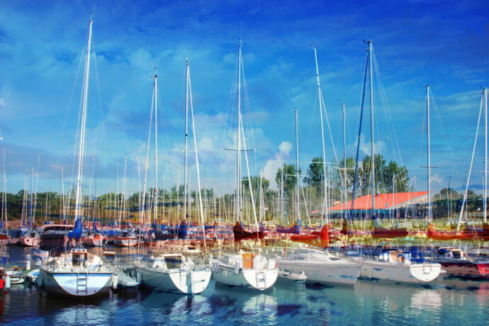 Sail Boats Marina Photo Montage - Dimensions: 3504 by 2336 pixels