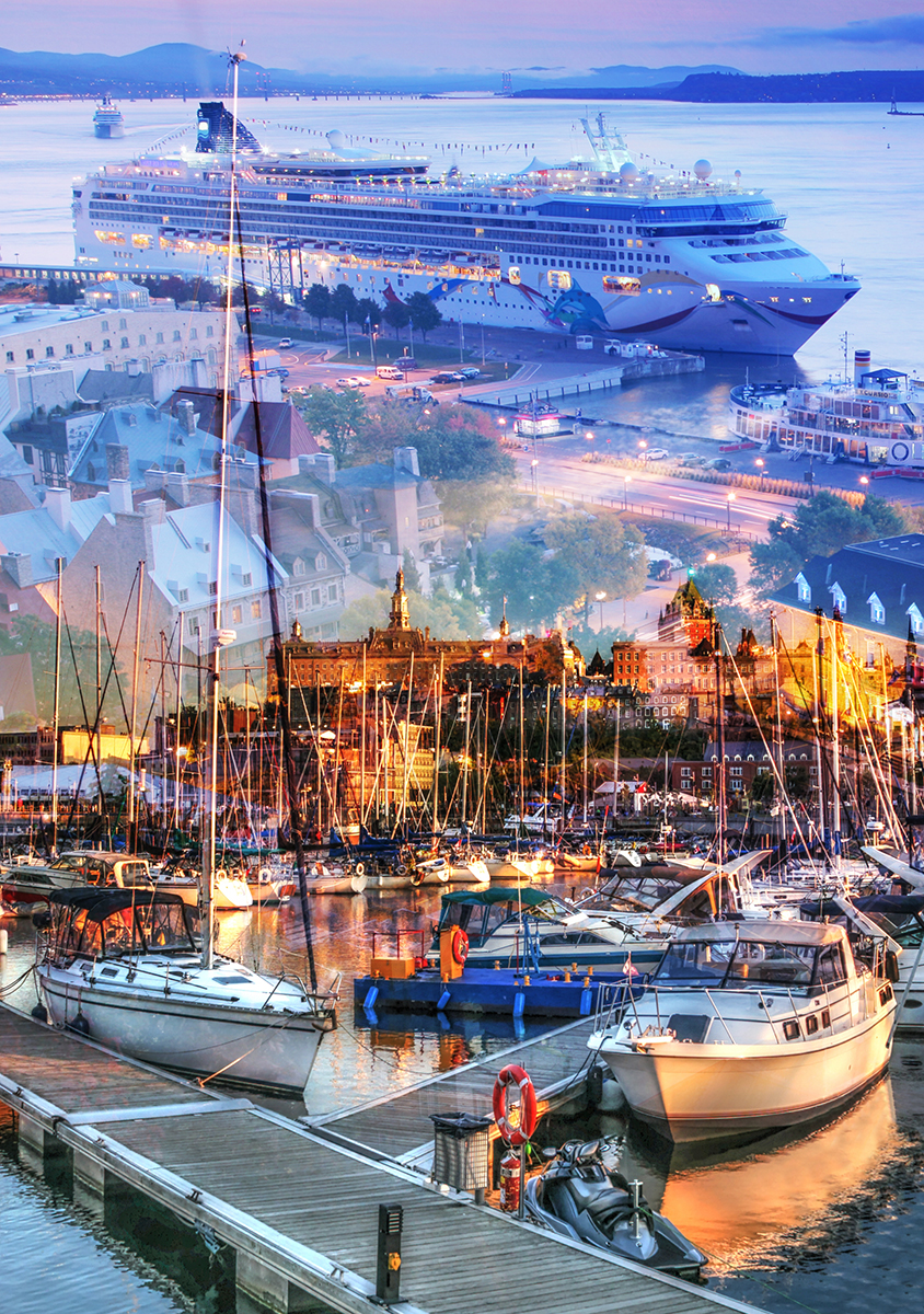 Urban Marina and Dock Photo Montage - Dimensions: 2291 by 3258 pixels