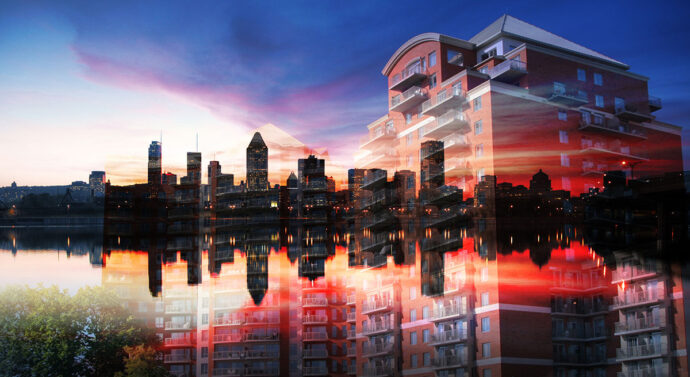 Urban Residence Photo Montage - Dimensions: 3366 by 1838 pixels