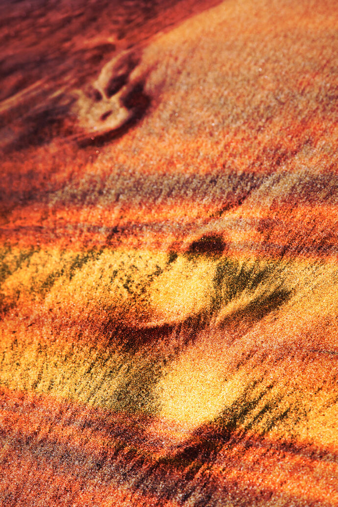 Abstract Footpath in Sand