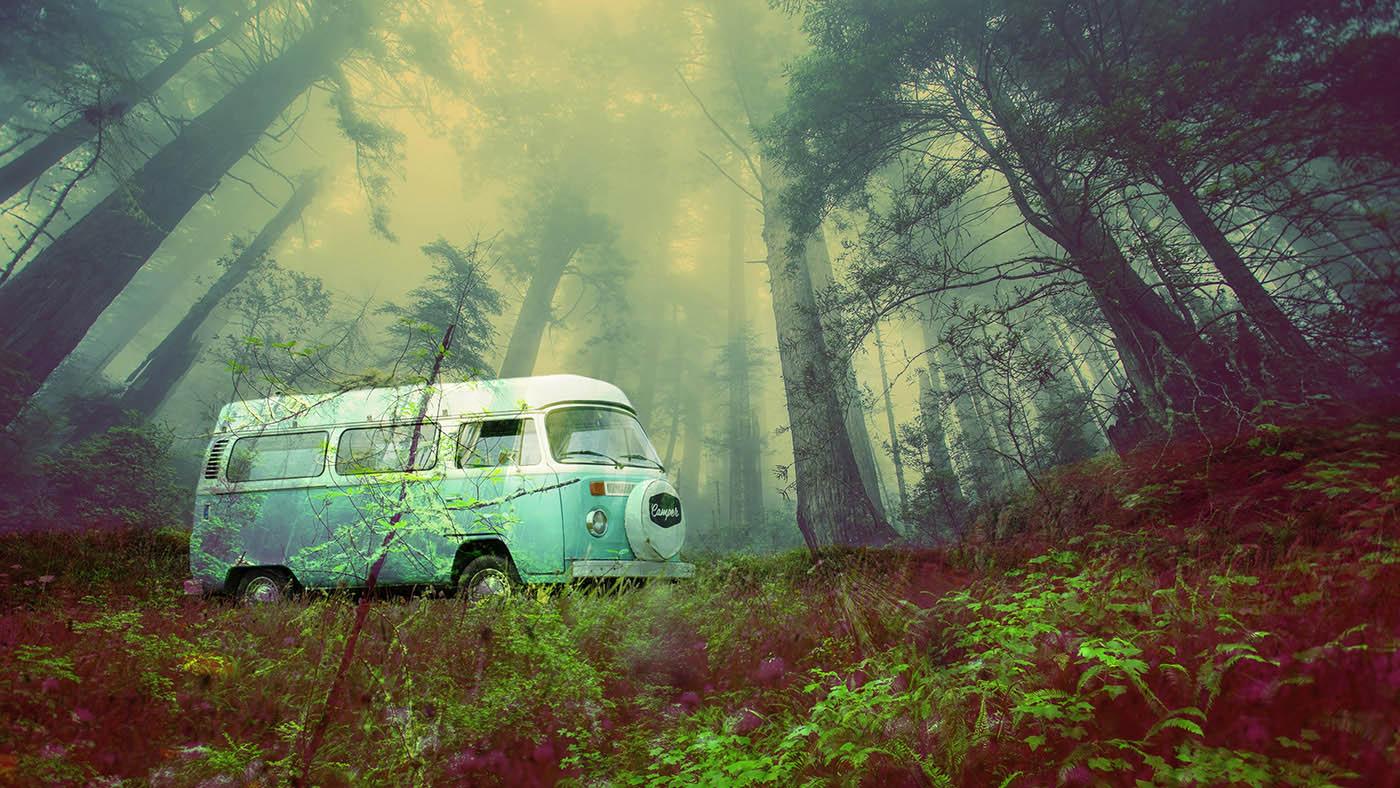 Vintage VW Camper Van Road Trip 03