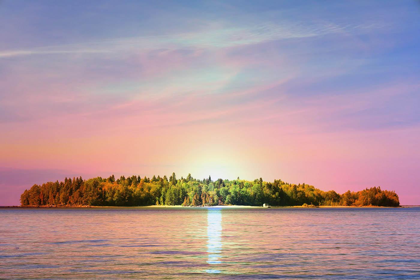 Peaceful Remote Island