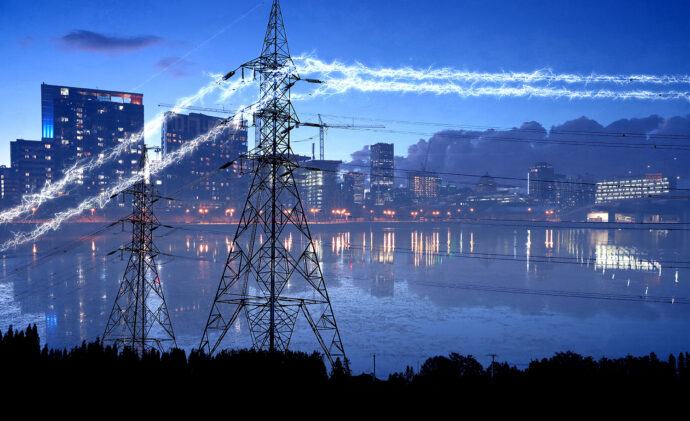 Urban Electrification in Blue