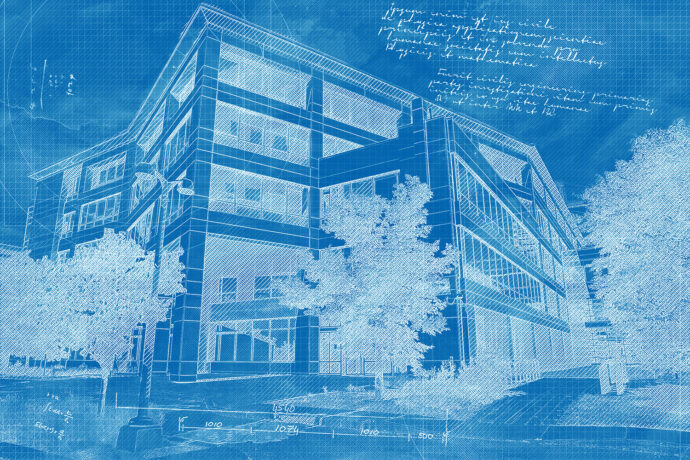Corporate Building Construction Blueprint Design